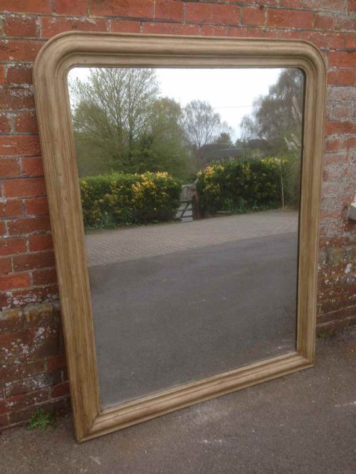 a wonderful original large antique 19th century french arched top oak mirror