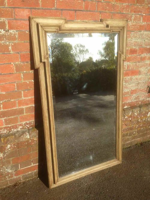 an unusual antique 19th century french painted mirror