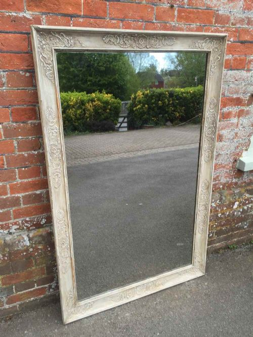 a wonderful large early antique 19th century french painted louis philippe mirror