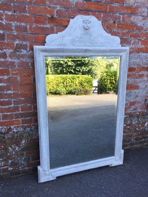 a stunning large highly decorative antique 19th century italian carved wood and gesso painted mirror