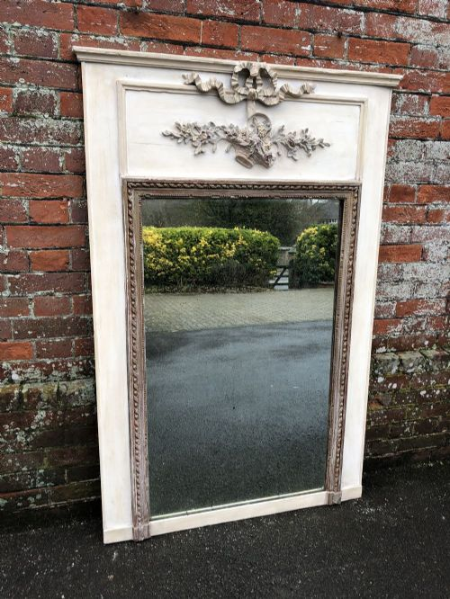 a superb antique 19th century french carved wood gesso original painted mirror