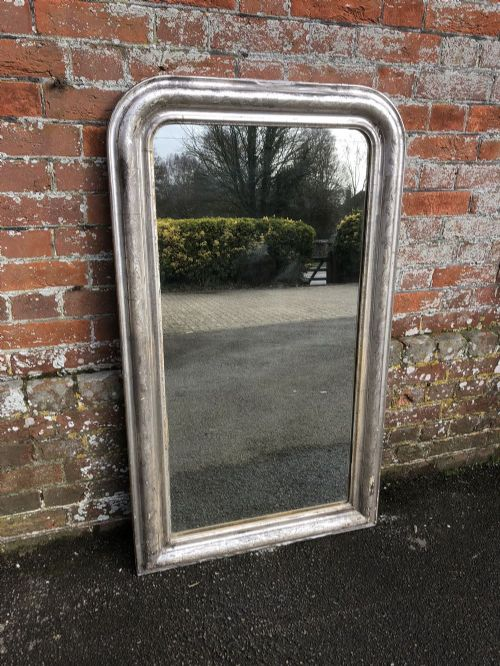 a fabulous early antique 19th century french carved wood and gesso original silvered etched framed arched top louis philippe mirror
