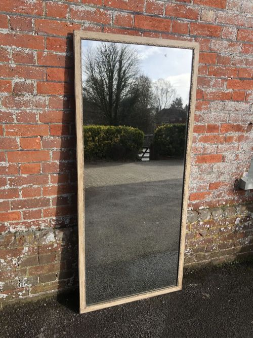 a spectacular large antique 19th century french carved wood narrow framed painted bistro mirror