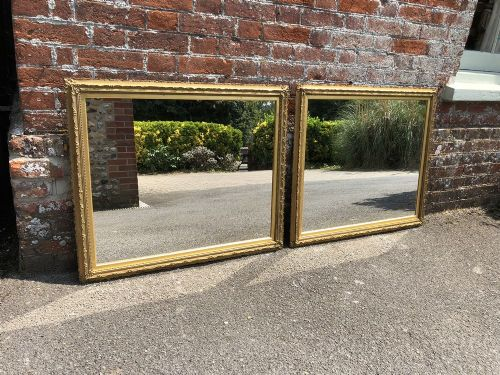 a wonderful pair of antique 19th english carved wood original gilt mirrors