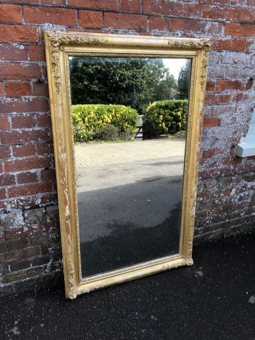 a fabulous early antique french mirror 19th century carved wood gesso original gilt louis philippe mirror