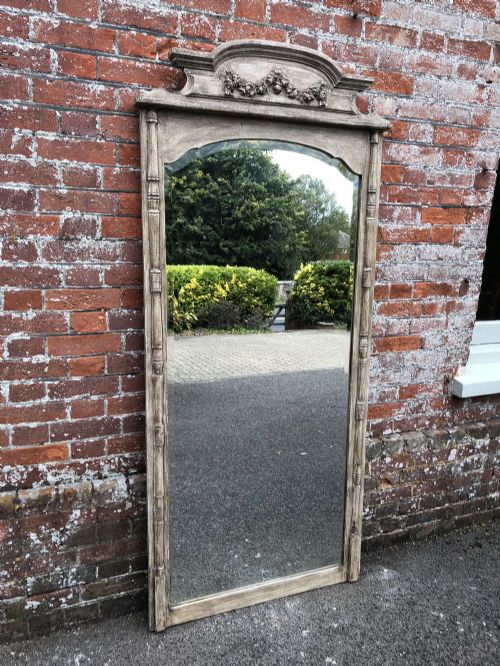 a stunning large antique french mirror19th century carved wood painted mirror