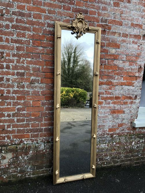 a superb large antique french 19th century carved wood and gesso orignal gilt pier mirror