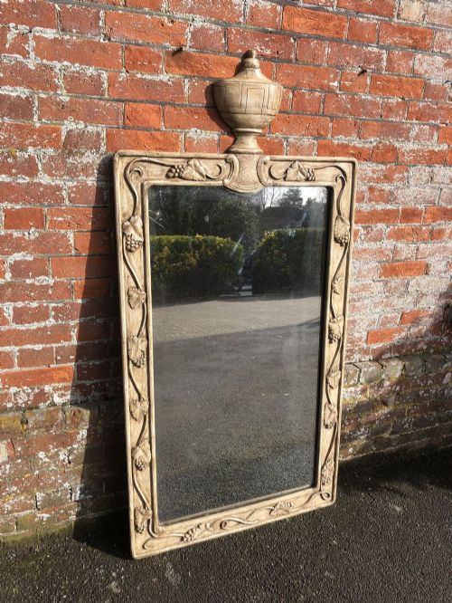 a stunning large antique 19th century french carved wood painted mirror