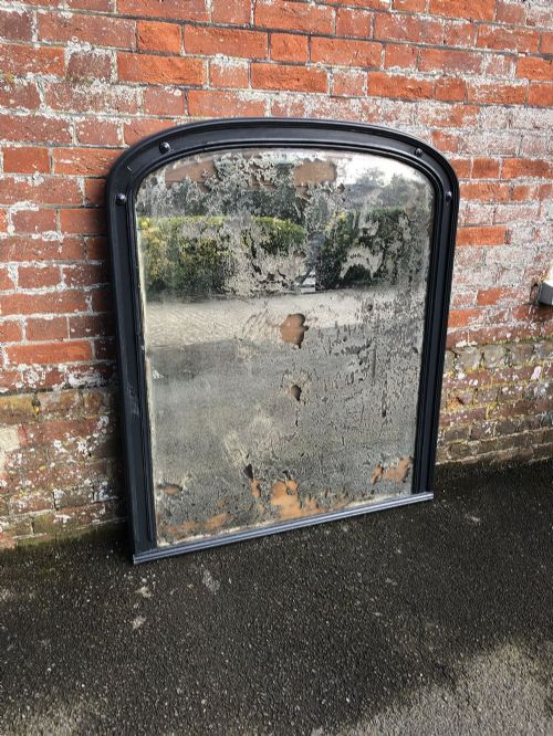 an absolutely stunning large antique french carved wood and gesso painted mirror