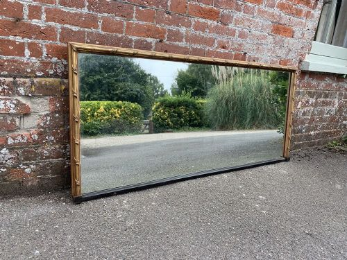 an exceptional antique english 19th century carved wood gesso original gilt landscape mirror