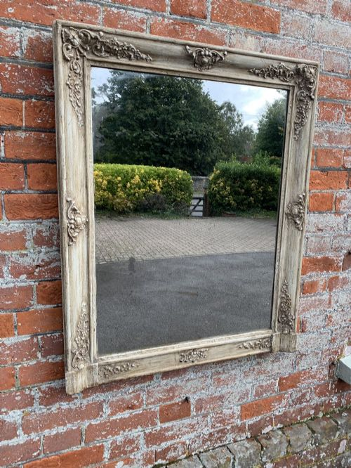 a superb highly useful size antique french 19th century carved wood gesso painted louis philippe mirror
