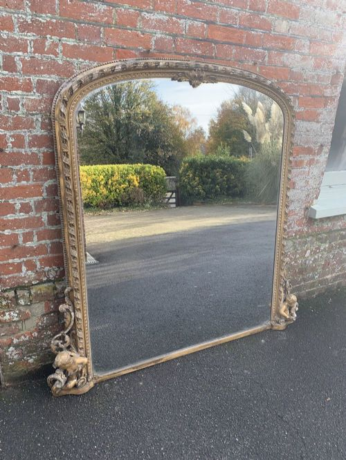 an absolutely stunning large antique 19th century english carved wood gesso original gilt rope twist framed mirror