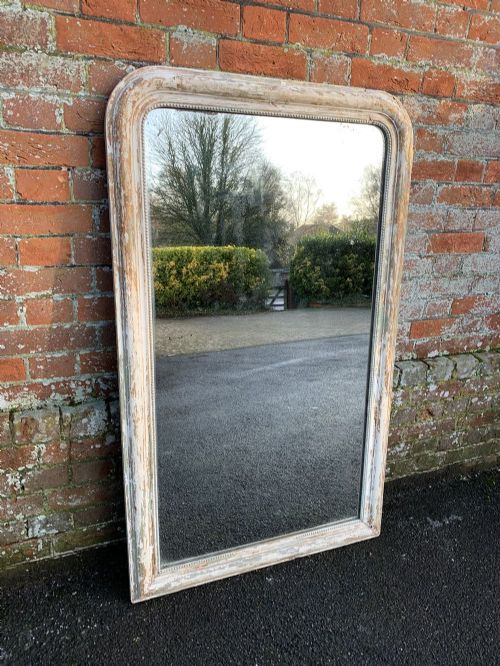 a wonderful good size antique french 19th century carved wood and gesso original distressed arched top louis philippe mirror