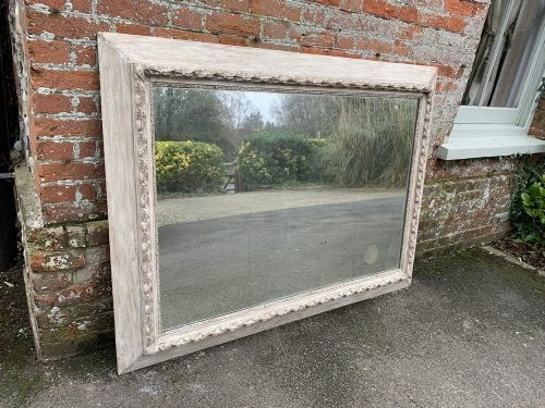 a stunning highly decorative large antique 19th century french carved wood and gesso painted mirror
