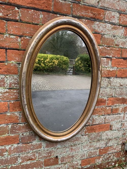 a wonderful good size antique french 19th century carved wood and gesso original silvergilt mirror