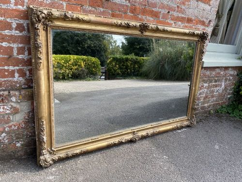 an exceptional large antique french 19th century carved wood gesso original gilt ornate framed louis philippe mirror