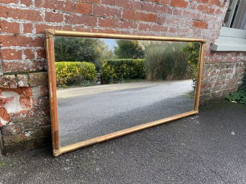 a highly impressive large french 19th century carved wood gesso original gilt bistro mirror