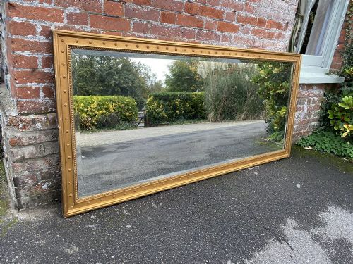 an impressive large antique french 19th century carved wood gesso original gilt mirror