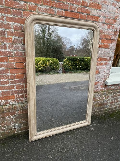 an exceptional large antique 19th century french carved wood and gesso arched top louis philippe mirror
