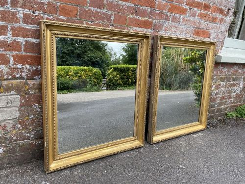 a stunning pair of antique french 19th century carved wood gesso original gilt mirrors
