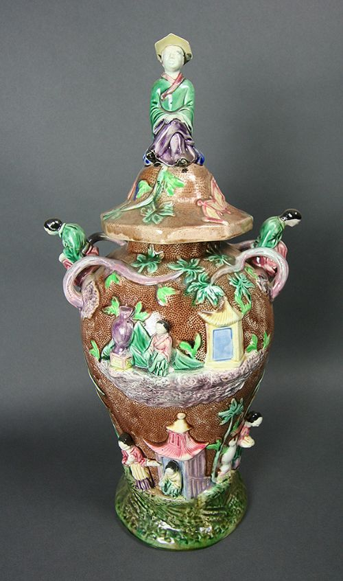 masons stoneware chinese vase