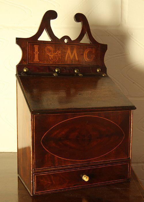 a george iii mahogany candle box