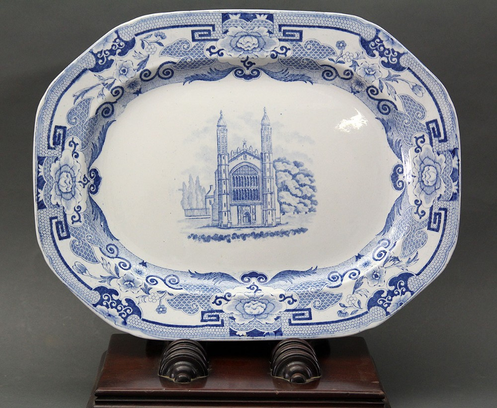 mason's ironstone china platter kings collage
