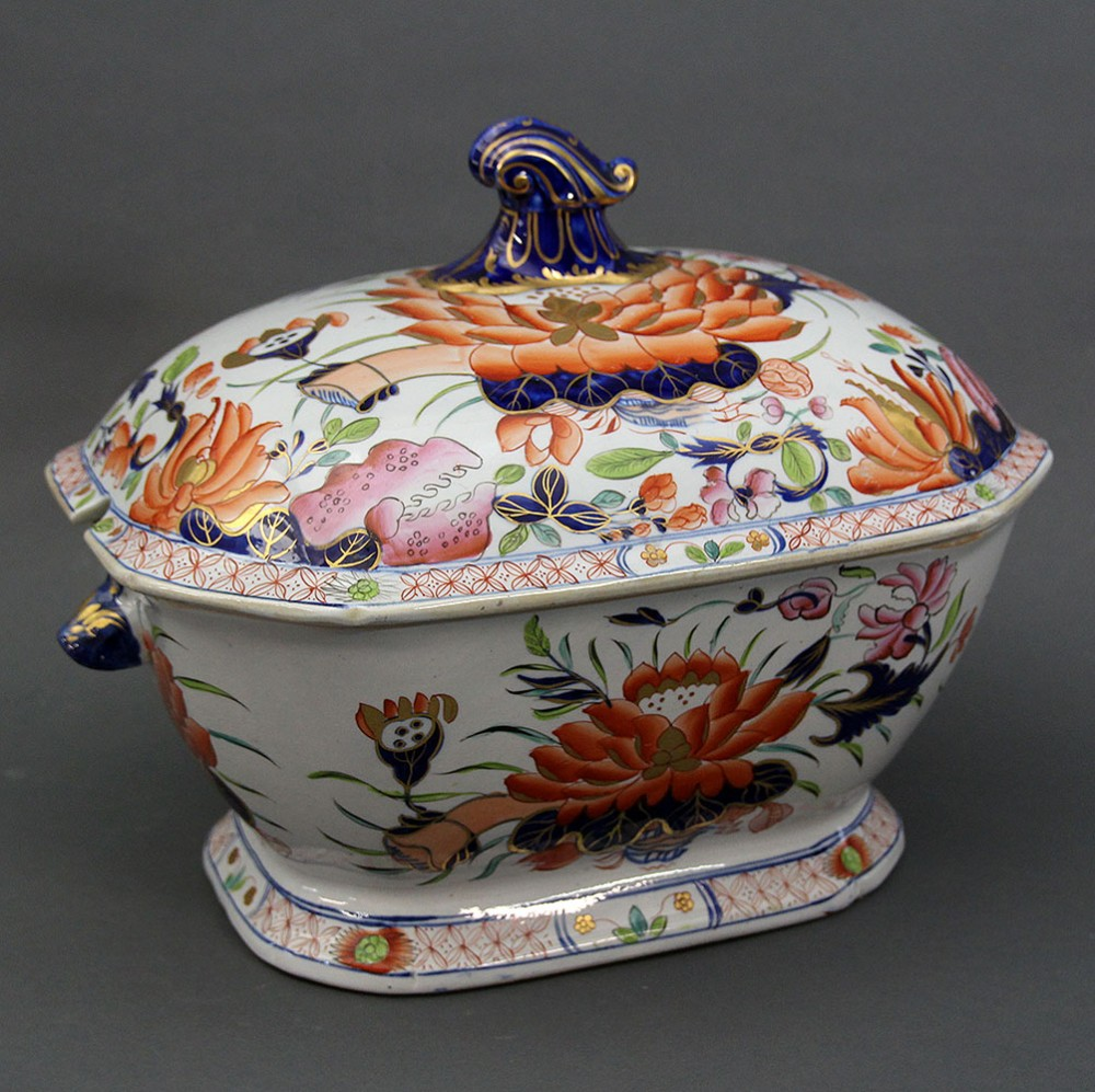 a mason's ironstone china soup tureen