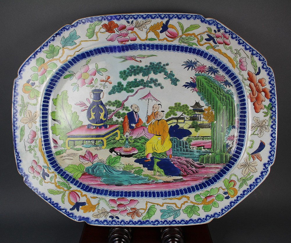 masons ironstone china meat platter