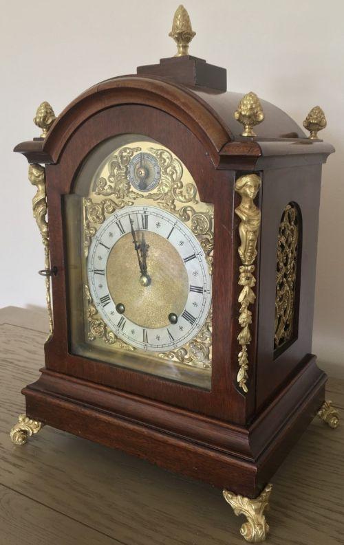 eight day large winterhalder hofmeier striking bracket clock