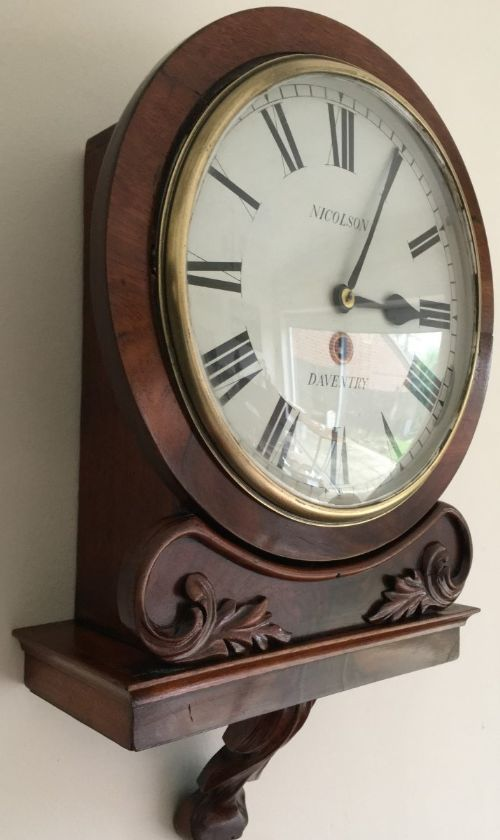 fusee bracket clock 19th century lovely example