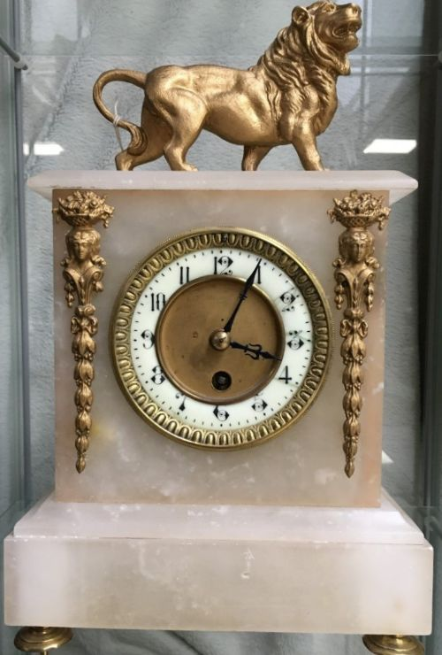french alabaster eight day timepiece