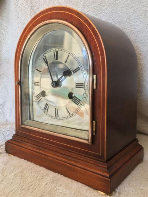 impressive striking mantel minibracket clock