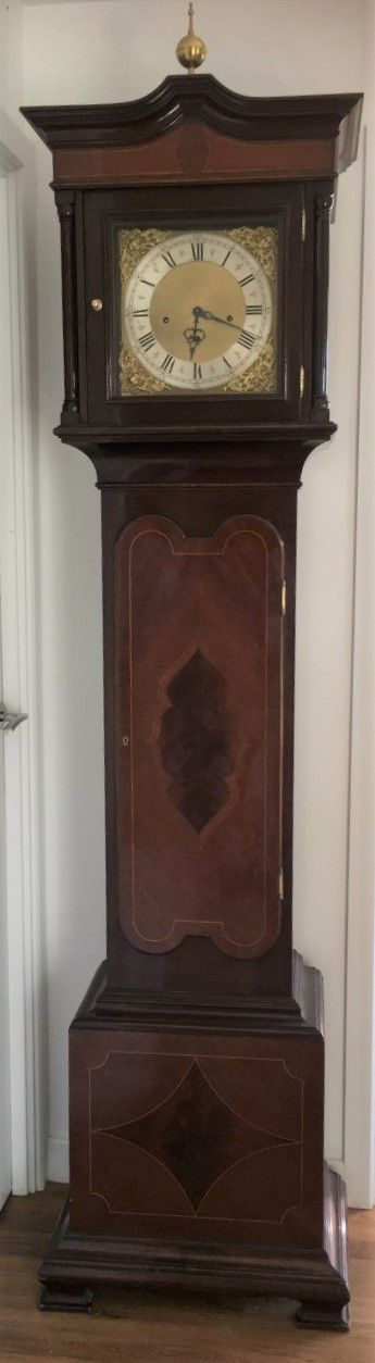 antique chiming eight day longcase clock gorgeous condition