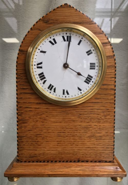 antique edwardian oak swiss eight day clock fully restored two year guarantee