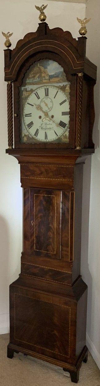 mahogany eight day victorian longcase clock