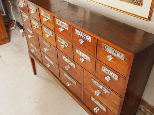 chest of drawers apothecary chemist mahogany 87908