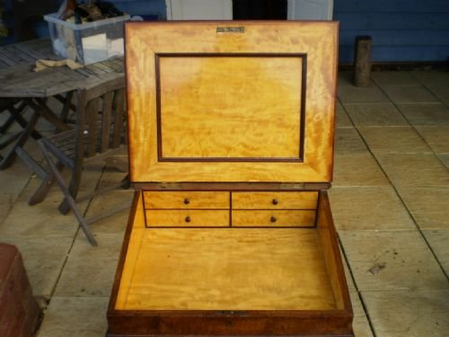 desk davenport victorian burr walnut fine quality c1850 - photo angle #3