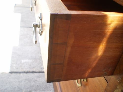 desk antique victorian arts and crafts pugin influence walnut c1880 - photo angle #4