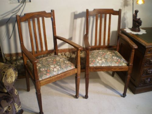 Chairs Victorian Oak Arts And Crafts Armchairs William Morris - William morris chairs