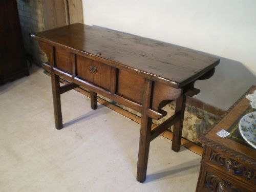 Table Chinese Altar Table Elm And Pine Early 20th Century