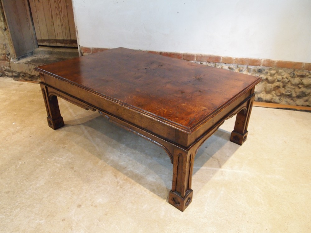 Table Coffee Table Arts And Crafts Gothic Oak C1930 400607