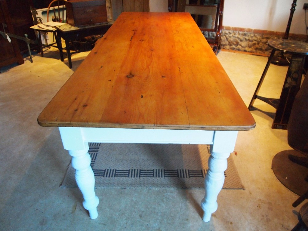 Table Victorian Pine Farmhouse Refectory Dining Table Seats 8 10 C1870