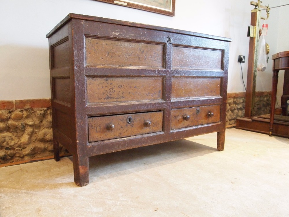 chest coffer blanket box mule chest george iii c1800