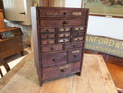 Delightful Cloverleaf Home Interiors | Antique Collectors Chest Of Drawers