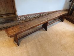 Cloverleaf Home Interiors | Antique Oak Settle Benches