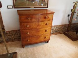 Cloverleaf Home Interiors | Antique Satinwood Chest Of Drawers