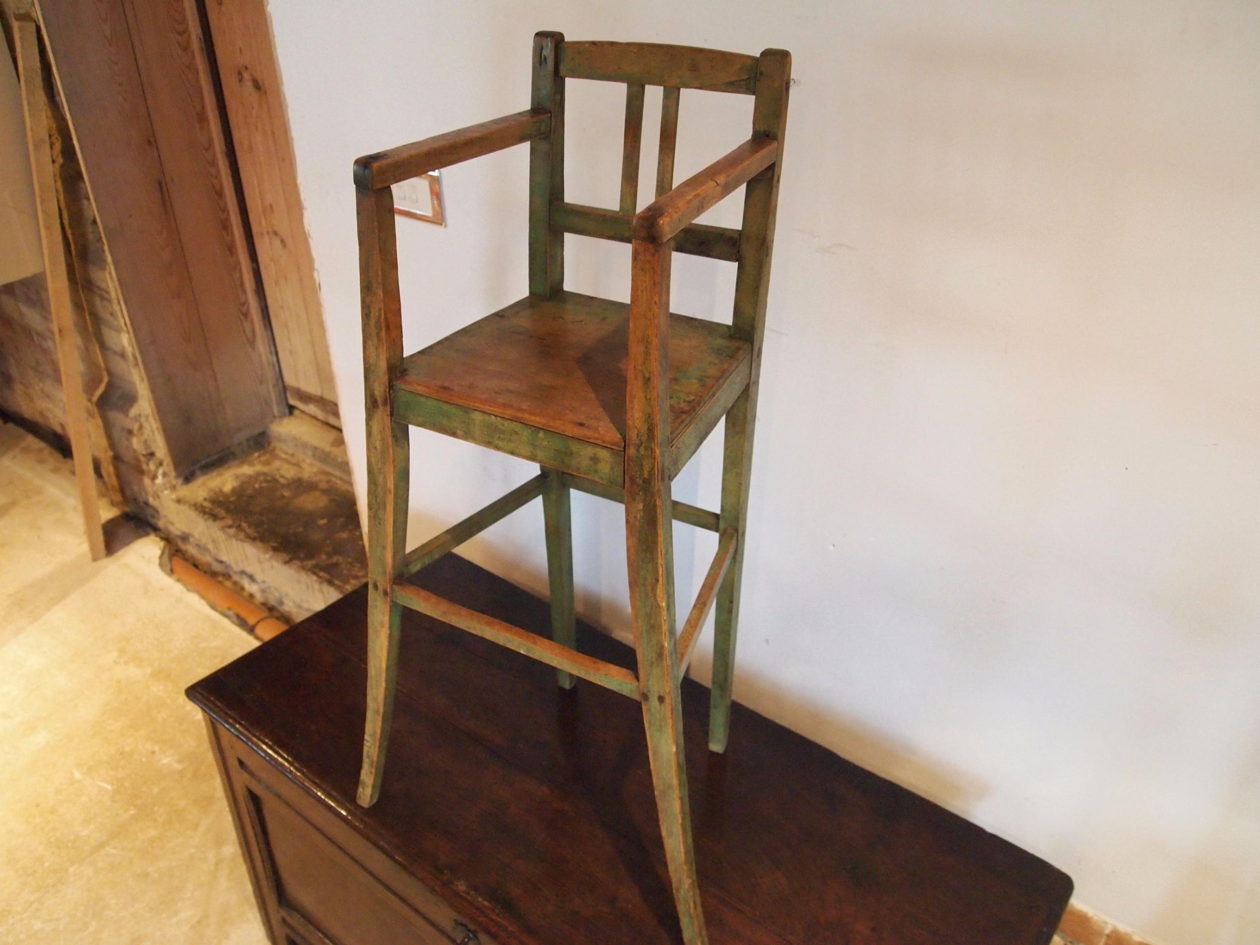 chair rare george iii child's high chair c1800