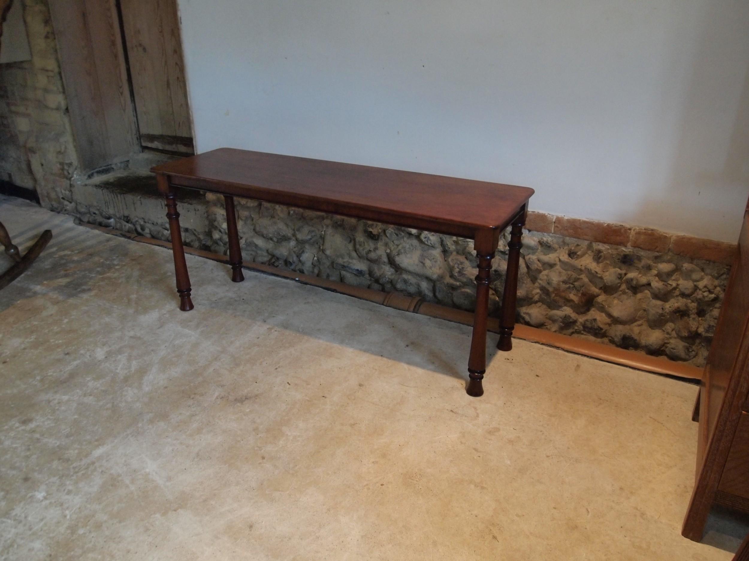 settle bench window seat william iv mahogany c1830