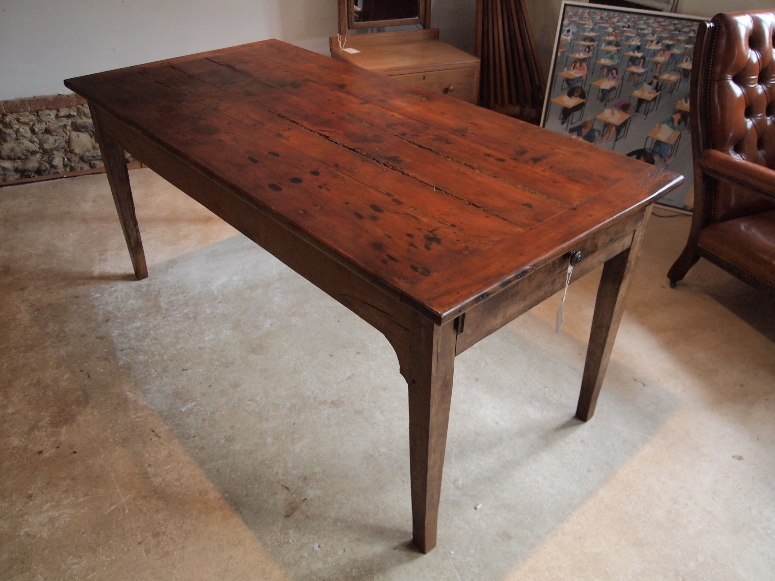 table refectory farmhouse french cherry wood c1780